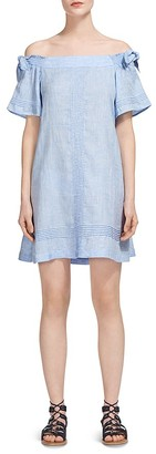 Whistles Rosie Off-the-Shoulder Dress $259 thestylecure.com