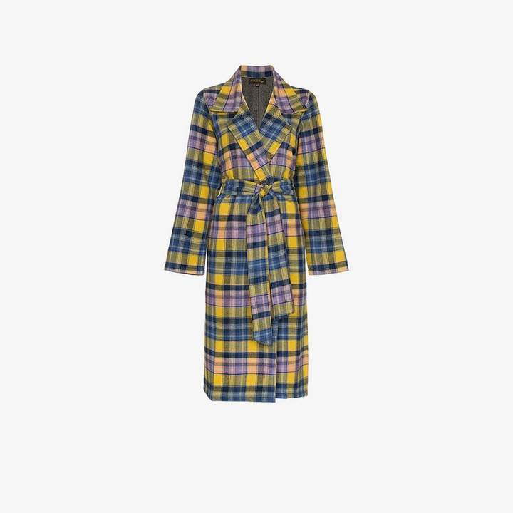 Checked Clarke Merino Wool Coat