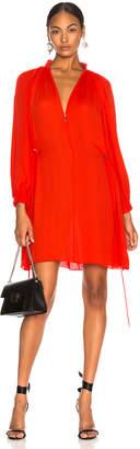 Tibi Viscose GGT Short Drawstring Hem Dress