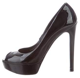 Christian Dior Patent Leather Platform Pumps