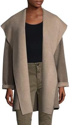 Vince Women's Hooded Wool-Blend Coat