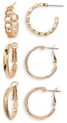 BP 3-Pack Small Hoop Earrings