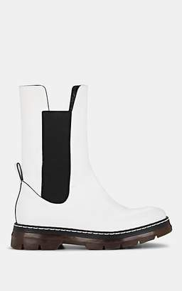 Cédric Charlier Women's Leather Chelsea Boots - White