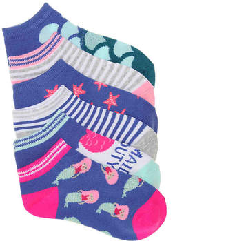 Olive & Edie Mermaid Infant, Toddler, & Youth No Show Socks - 6 Pack - Girl's