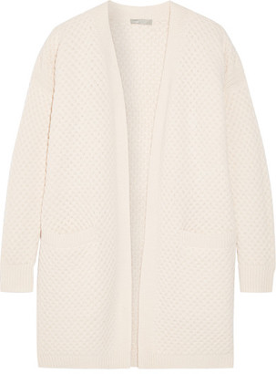 Vince - Honeycomb-knit Wool And Yak-blend Cardigan - Ecru $475 thestylecure.com