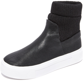 DKNY Beverly Platform Sneaker Booties $248 thestylecure.com