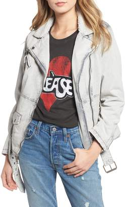 Levi's Oversize Denim Jacket with Faux Shearling Trim