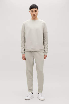 Cos RIB-PANELLED SWEATPANT TROUSERS