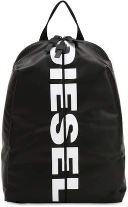 Diesel Logo Front Zip Tech Fabric Backpack
