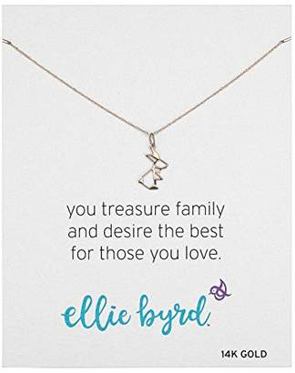 Gold Bunny ellie byrd 14k Rabbit Necklace