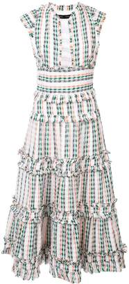 Proenza Schouler Textured Tweed Tiered Dress