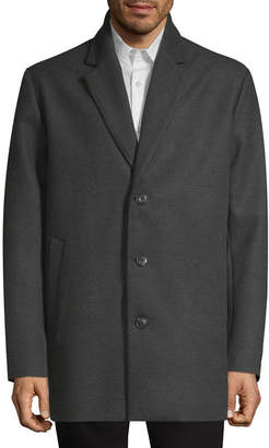 Claiborne Woven Midweight Topcoat