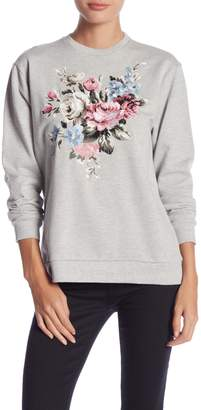Romeo & Juliet Couture Embroidered Crew Neck Sweatshirt