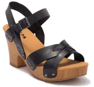 24b777e0625 KORKS Bagley Platform Heeled Sandal