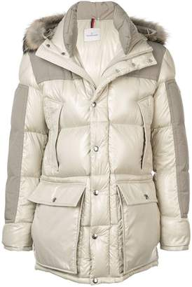 Moncler fur-trimmed down jacket
