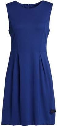 Love Moschino Fluted Crepe Mini Dress