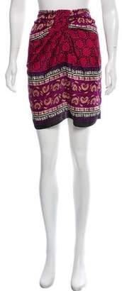 Anna Sui Strapless Silk Blouse