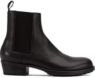 Haider Ackermann round toe ankle boots