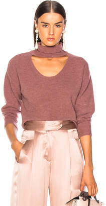 Michelle Mason Turtleneck Cropped Plunge Sweater