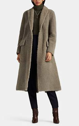 The Row Women's Muto Lamb Shearling Belted Coat - Gray