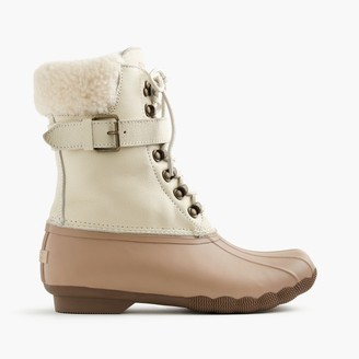 Women's Sperry® for J.Crew Shearwater buckle boots in colorblock $180 thestylecure.com