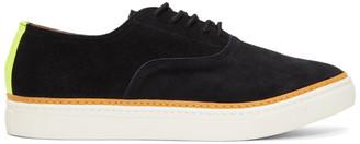 Junya Watanabe Black Suede Reflector Sneakers