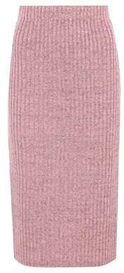 Rag & Bone Jubilee metallic wool-blend skirt