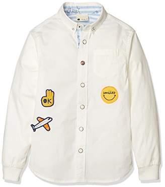 Giordano (ジョルダーノ) - (ジョルダーノ)GIORDANO 袖リブストレッチシャツ GD18SP-03048001 091 ホワイト 120