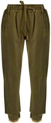 HAIDER ACKERMANN Polonium raw-hem cotton trousers $755 thestylecure.com