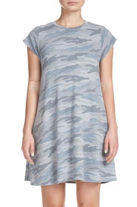 Elan International Cap Sleeve A-line Camo Dress