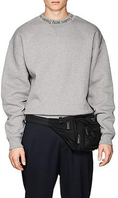 Acne Studios Men's Flogho Logo-Crewneck Cotton Sweatshirt - Gray