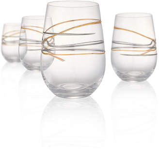 Artland Reflections 15oz Stemless Glasses, Set of 4