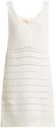 Diane von Furstenberg Crochet-knit cotton dress