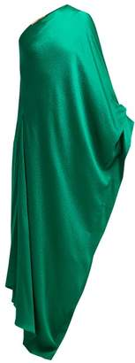 Roland Mouret Ritts One Shoulder Silk Blend Gown - Womens - Green