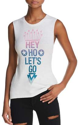 Daydreamer Hey Ho Let's Go Graphic Muscle Tank