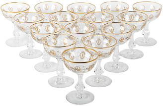 One Kings Lane Vintage Vintage Cut Crystal Coupes / Martini Set