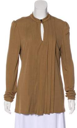 Burberry Pleated Long Sleeve Top