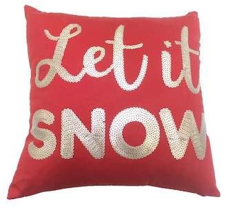 """Peking Handicraft Let It Snow Sequin Pillow - 16\""""x16\"""""""