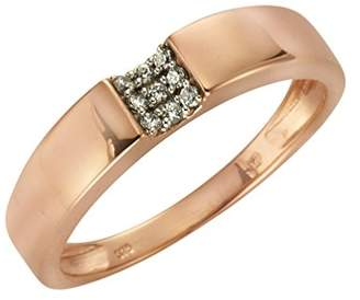 Celesta Fascination by Ellen K. Women's Ring 375 Red Gold Rhodium-Plated Round Cut CZ White Size 52 (16.6) - 371370450–2-052 red