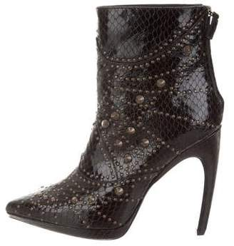 Rodarte Leather Stud-Embellished Ankle Boots w/ Tags