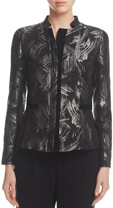 Lafayette 148 New York Belle Metallic Abstract Print Jacket $698 thestylecure.com