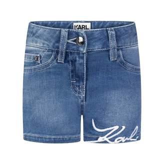 Karl Lagerfeld LagerfeldGirls Blue Denim Shorts