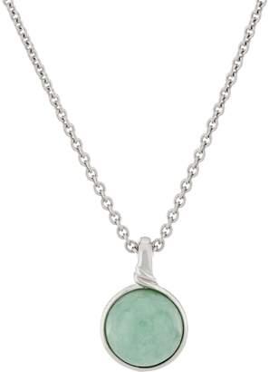 "Jade Round Sterling Silver Enhancer on 18"" Chain"