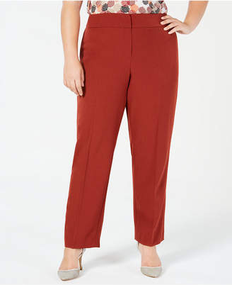 06f3e9fde06 Kasper Plus Size Straight-Leg Pants
