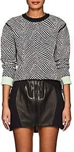 Opening Ceremony Women's Zebra Jacquard Crewneck Sweater - Black