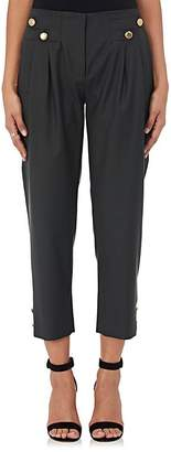 Mayle Maison MAISON WOMEN'S WOOL TWILL PLEATED-FRONT TROUSERS