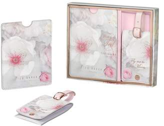 Ted Baker Chelsea Border Luggage Tag & Passport Set