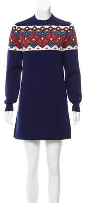 Louis Vuitton Fair Isle Knit Dress