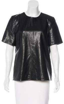 J Brand Embossed Leather Top