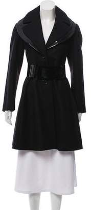 Giorgio Armani Wool Knee-Length Coat